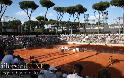 Le Class Toilet nel Tempio del Tennis di Roma.